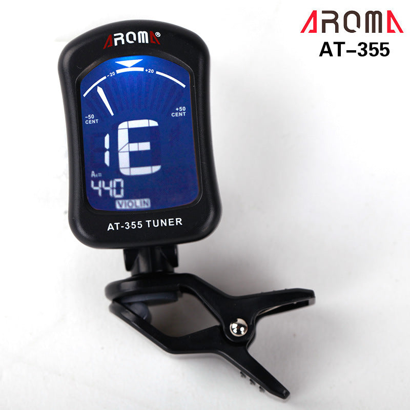AROMA AT-355 Portable Clip-on Electric Tuner for Guitar Chromatic Bass Ukulele