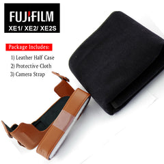 FUJIFILM BLC-XE2 XE2S Genuine Leather Compact System Camera Case