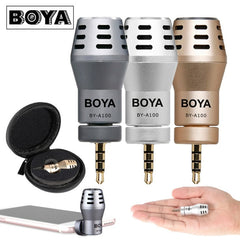BOYA BY-A100 3.5mm Microphone Condenser for IOS Devices Studio Mini Directional