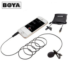 BOYA BY-LM10 Omnidirectional Lavalier Microphone for iPhone Smartphone Ipad
