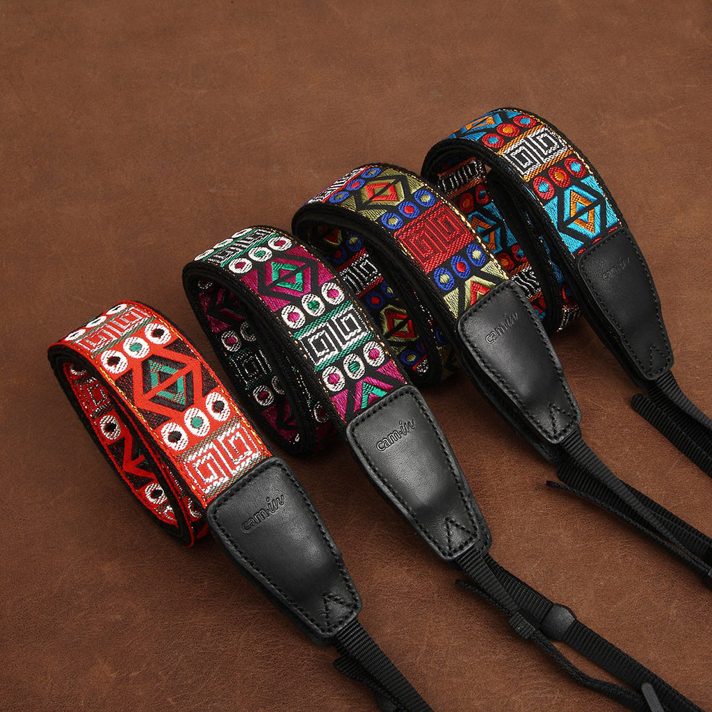 Cam-in Embroidery Series Camera Strap CS138 Series