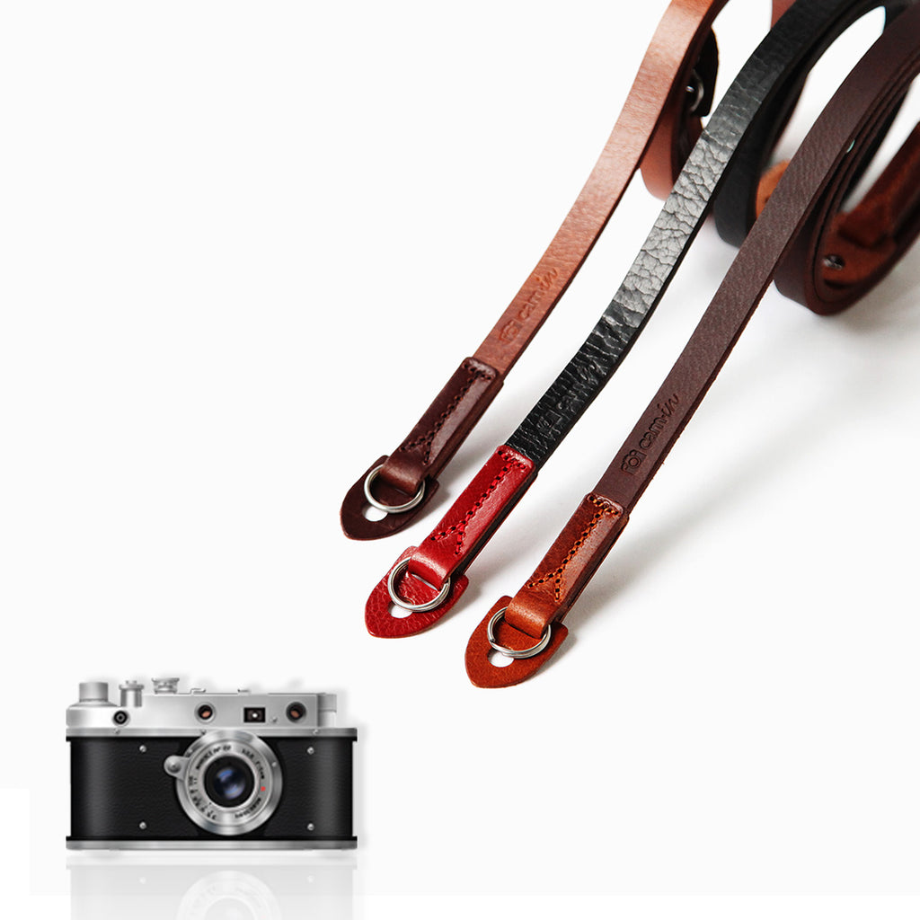 Cam-in CS230 Series Imported Italian Genuine Leather Handmade Camera Strap