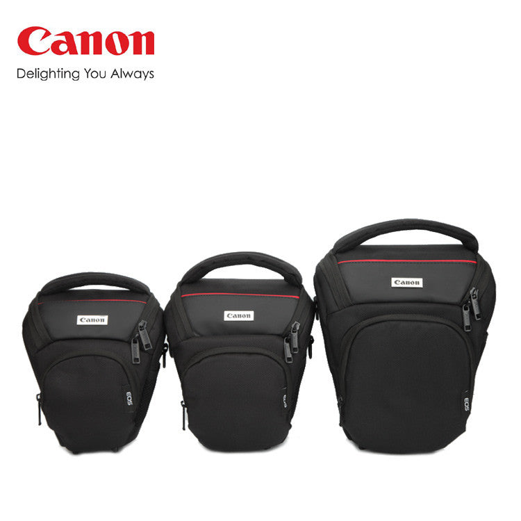 Triangular Bag w/ Strap and Rain Cover for Canon