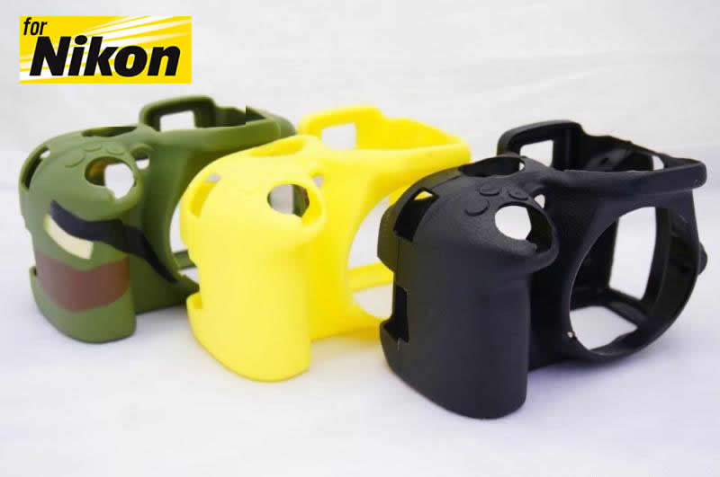 Silicone Rubber Case for Nikon D3300 D3200 D3100