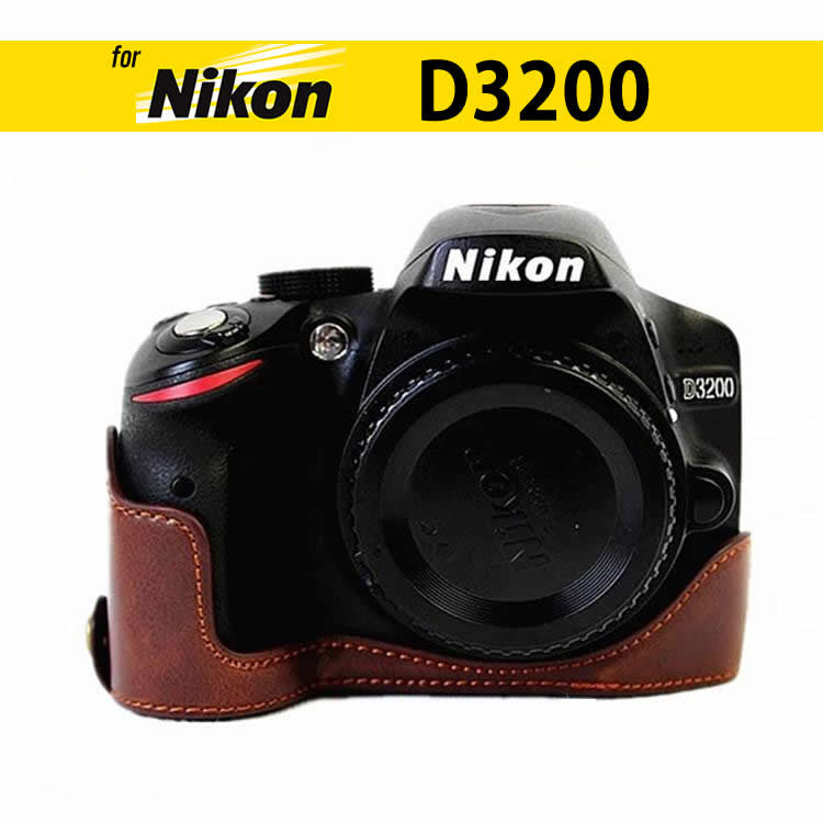 Leather Half Case for Nikon D3400 D3300 D3200 D3100