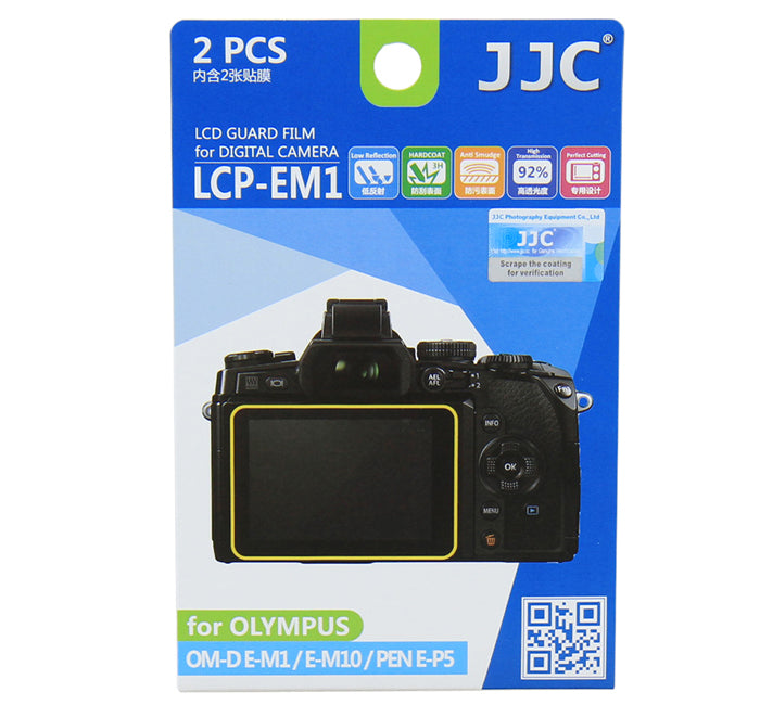 JJC LCD Guard Film for OLYMPUS OM-D/E-M1/E-M10/PEN E-P5