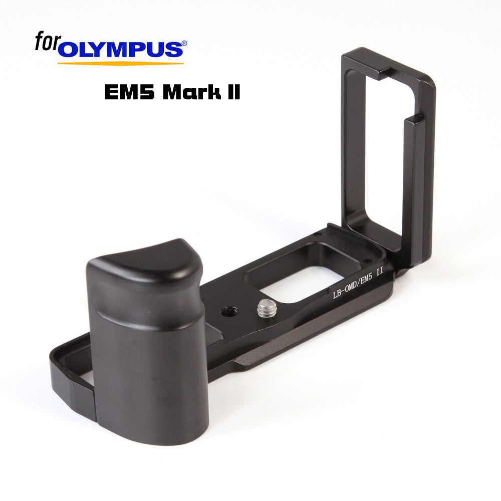 Quick Release QR L Shape Plate Grip Camera Bracket Holder for Olympus OMD E-M5 EM5 Mark II