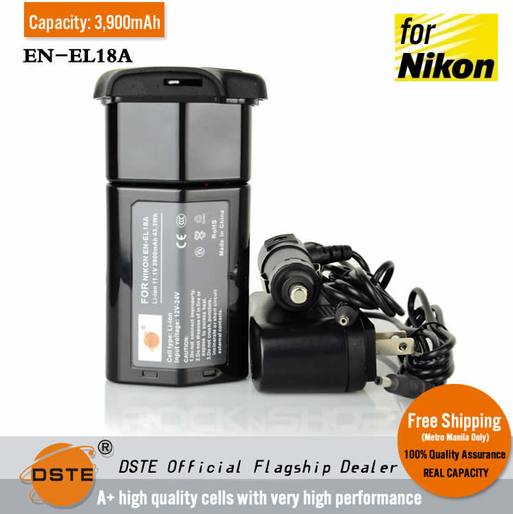 DSTE EN-EL18A 3900mAh Replacement Li-ion Battery for Nikon MB-D12 MB-D17 MB-D18 Battery Grip
