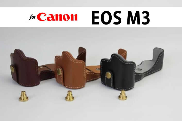 Leather Half Case for Canon EOS M3