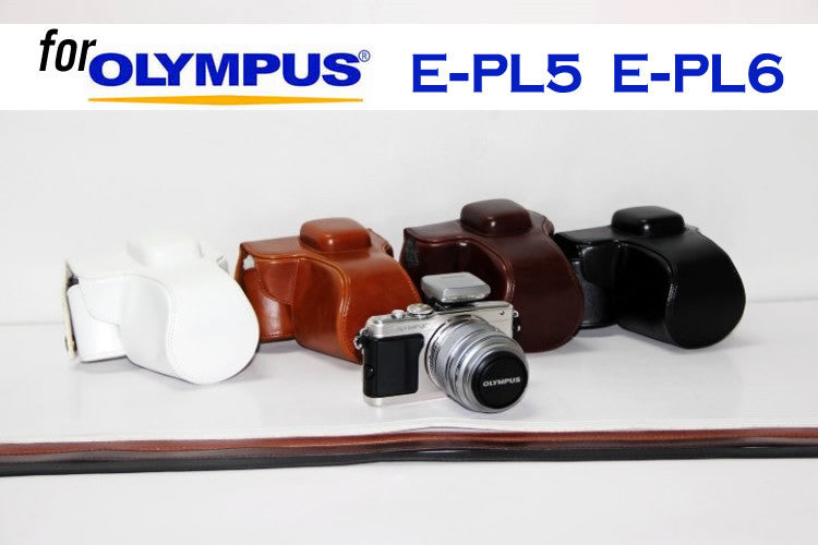 Leather Case Holster for Olympus E-PL5 E-PL6