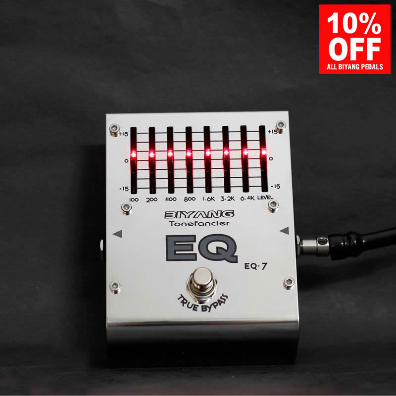 Biyang EQ-7 7 Band Equalizer Guitar Effect Pedal (ToneFancier Series)
