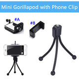Mini Gorillapod with Phone Clip