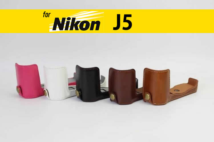 Leather Half Case for Nikon J5