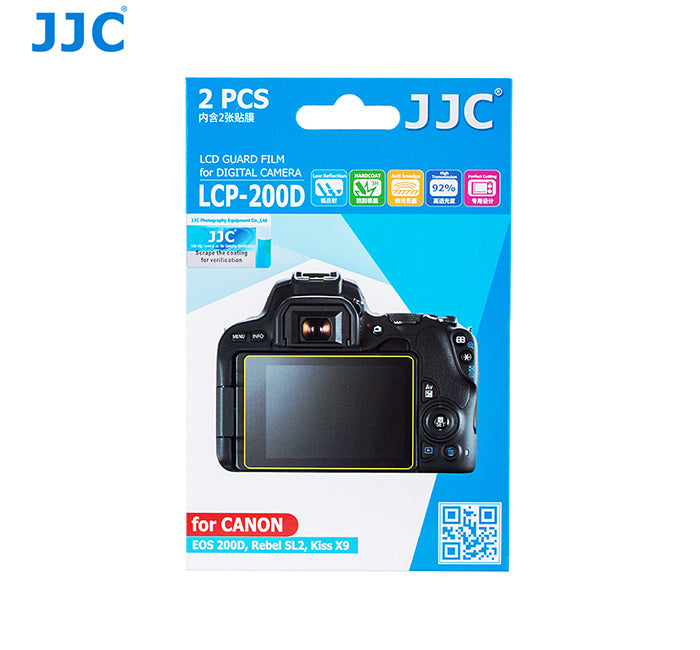 JJC LCD Guard Film for CANON EOS 200D,Rebel SL2,Kiss X9