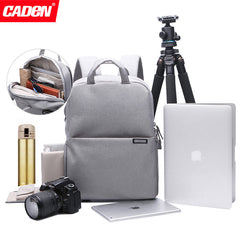 CADEN L5 Stylish Nylon Multifunction Shockproof Backpack Camera Bag