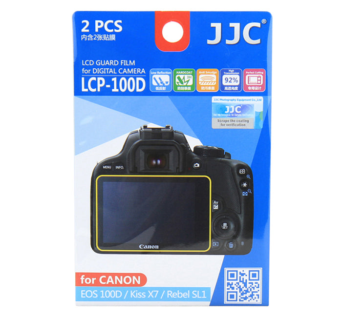 JJC LCD Guard Film for CANON EOS 100D/Kiss X7/Rebel SL1