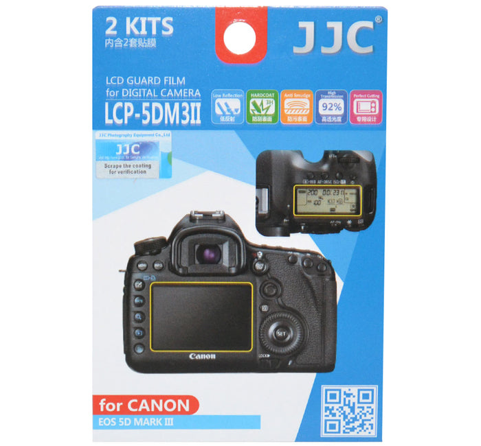 JJC LCD Guard Film for CANON EOS 5D MARK III, EOS 5Ds, 5DsR, 5D MARK IV