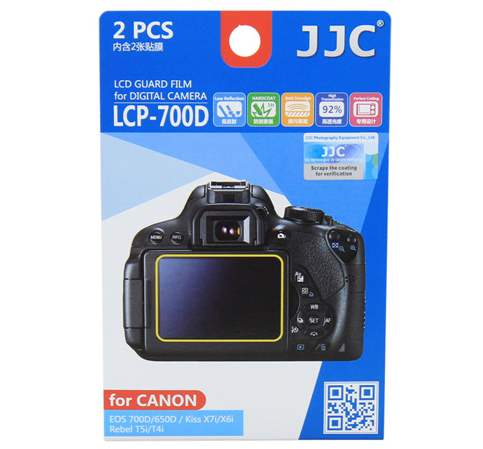JJC LCD Guard Film for CANON EOS700D/650D ,Kiss X7i/X6i, Rebel T5i/T4i