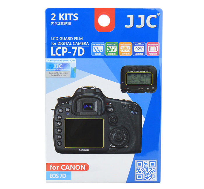 JJC  LCD Guard Film for CANON EOS 7D