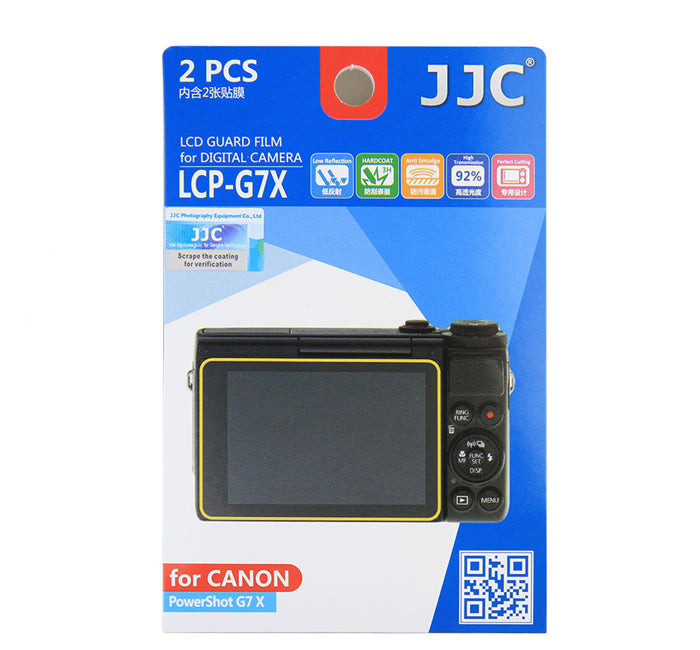 JJC LCD Guard Film for Canon PowerShot G9 X MarkII, G7X Mark II, EOS M6, G5X, G9X, G7X