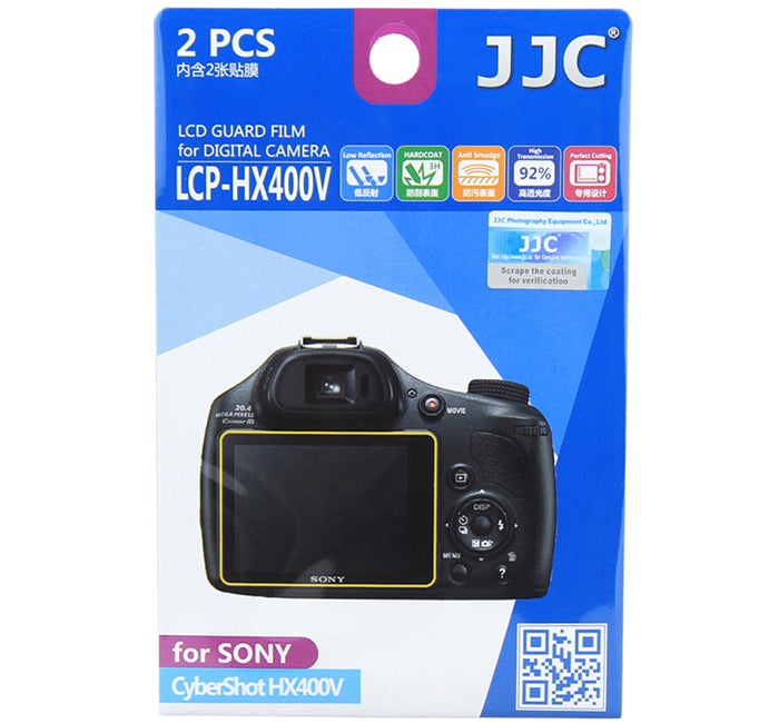 JJC LCD Guard Film for SONY CyberShot HX400V /HX300