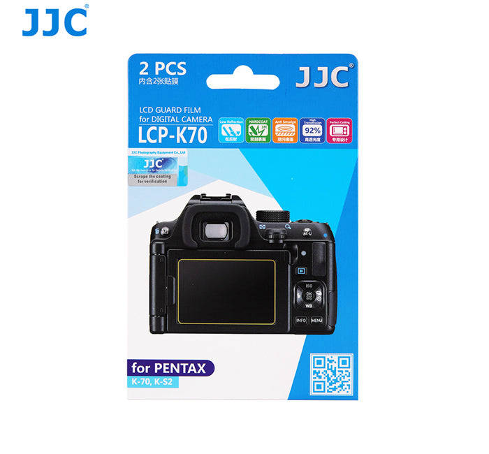 JJC LCD Guard Film for Pentax K-70, K-S2,PENTAX KP