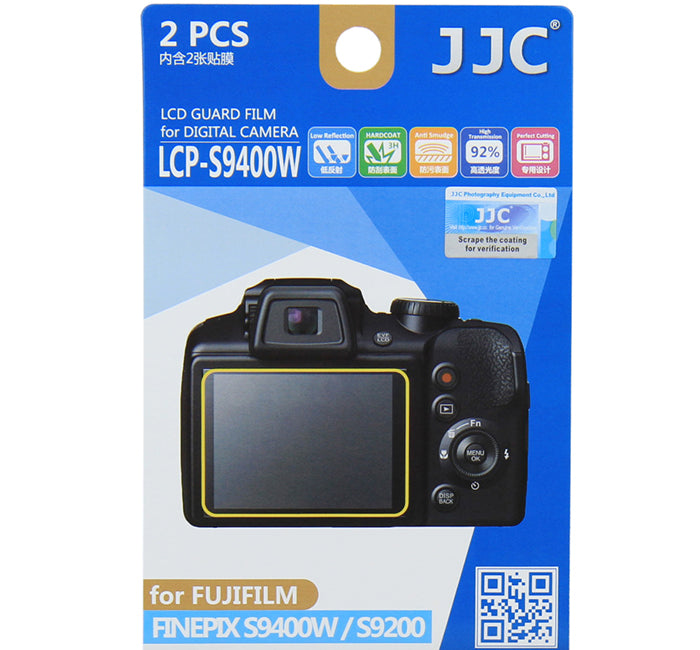 JJC LCD Guard Film for FUJIFILM FINEPIX S9400W