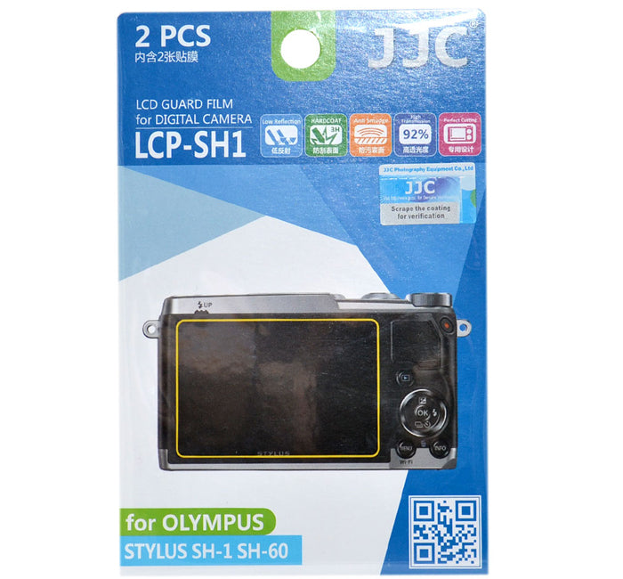 JJC LCD Guard Film for OLYMPUS STYLUS SH-1/SH-60/SH-3