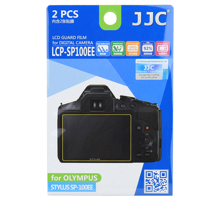 JJC LCD Guard Film for OLYMPUS STYLUS SP-100EE