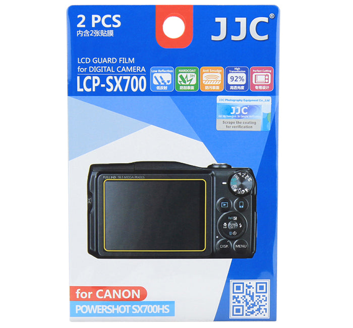 JJC LCD Guard Film for CANON POWERSHOT SX700HS