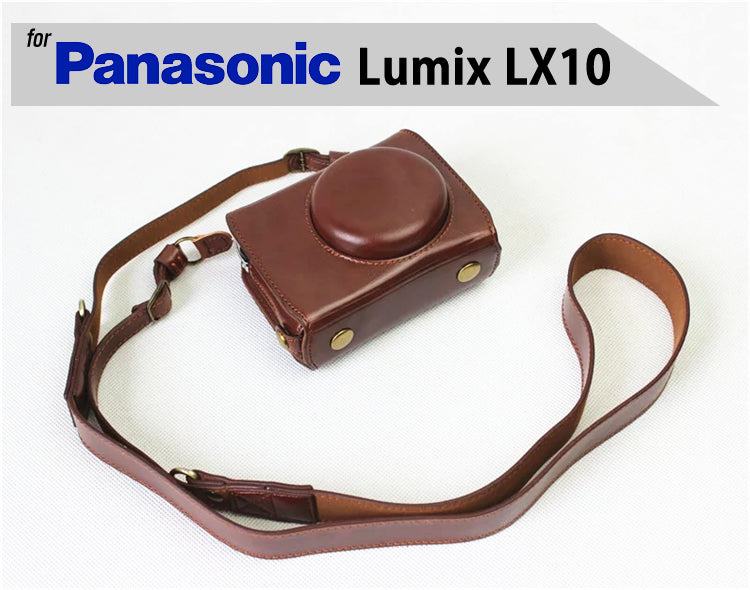 Luxury Leather Case for Panasonic Lumix LX10