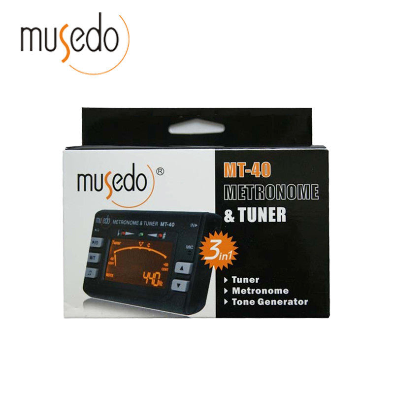 Musedo MT-40  3-in-1 Guitar Tuner Metronome and Tone Generator
