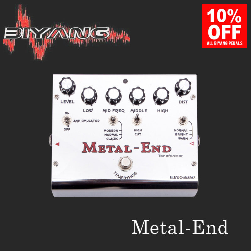 Biyang Metal End Pro Distortion Guitar Effect Pedal (ToneFancier Series)