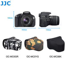 JJC OC-MC0 Series Neoprene Camera Case for Sony Canon Nikon Fujifilm