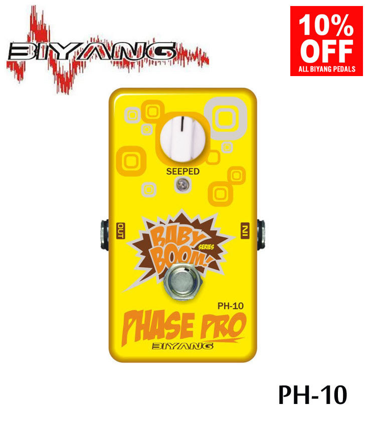 Biyang PH-10 Phase Pro Phaser Guitar Effect Pedal (Babyboom Series)