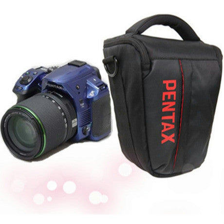 Triangular Bag with Strap & Raincover for Pentax