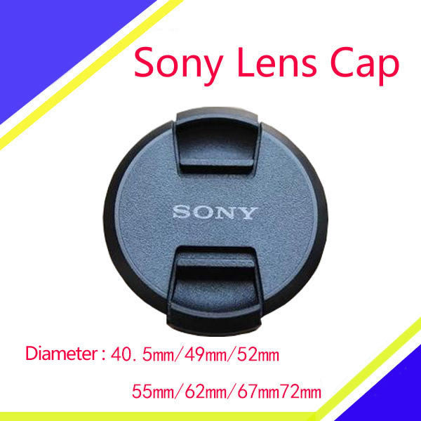 Snap-on Lens Cap Cover with Cord for Sony