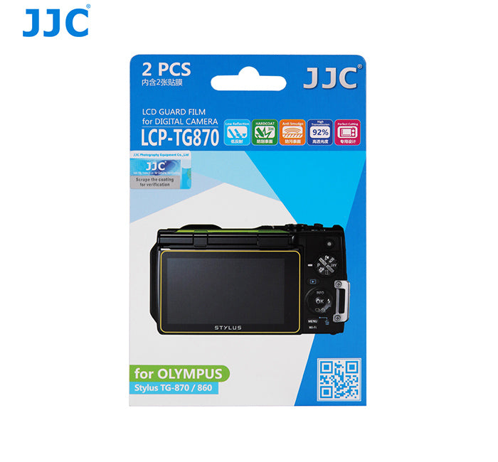 JJC LCD Guard Film for Olympus Stylus TG-870 / 860
