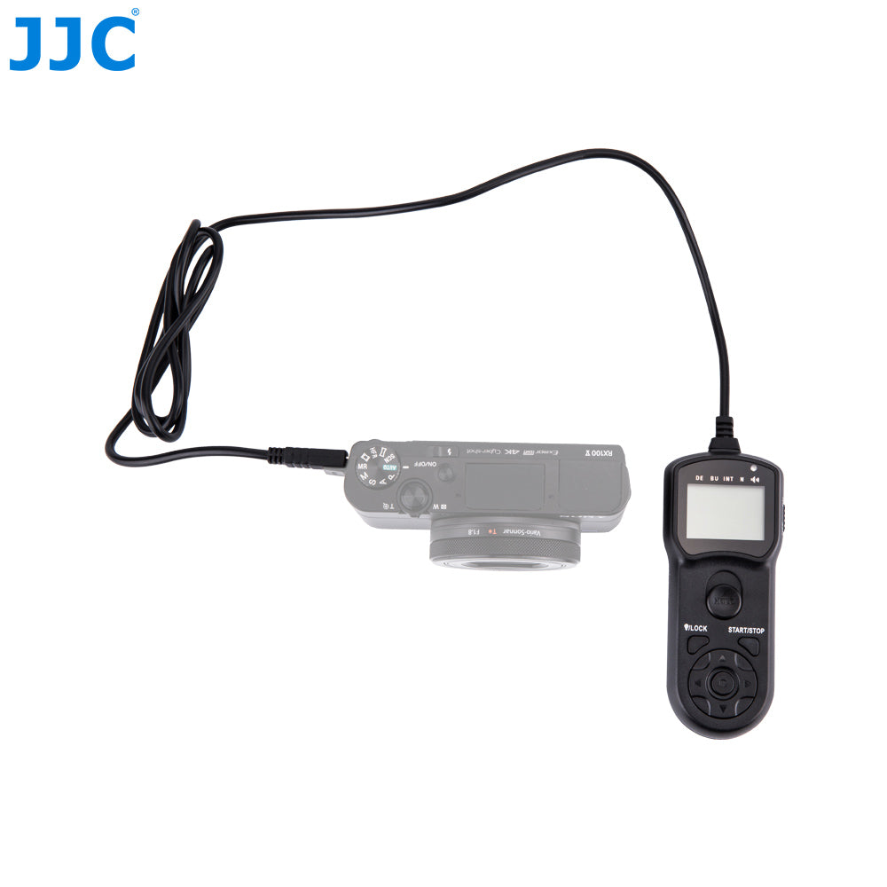 JJC TM-F2 Wired Timer Remote Control Shutter Release Cord for Sony