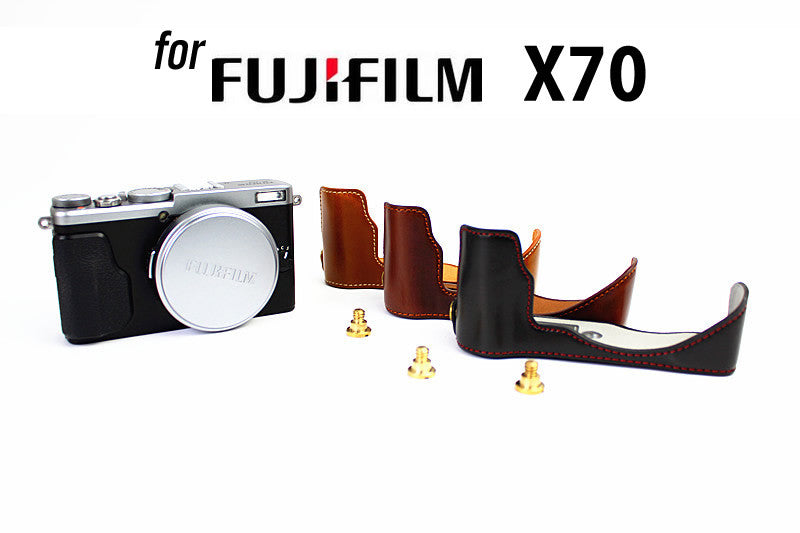 Leather Half Case for FujiFilm X70 (version 2)