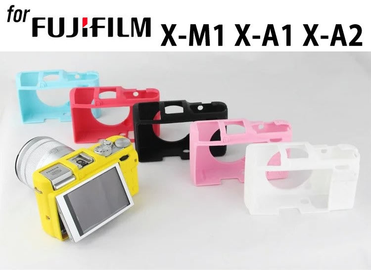 Silicone Rubber Case For FujiFilm X-M1 X-A1 X-A2