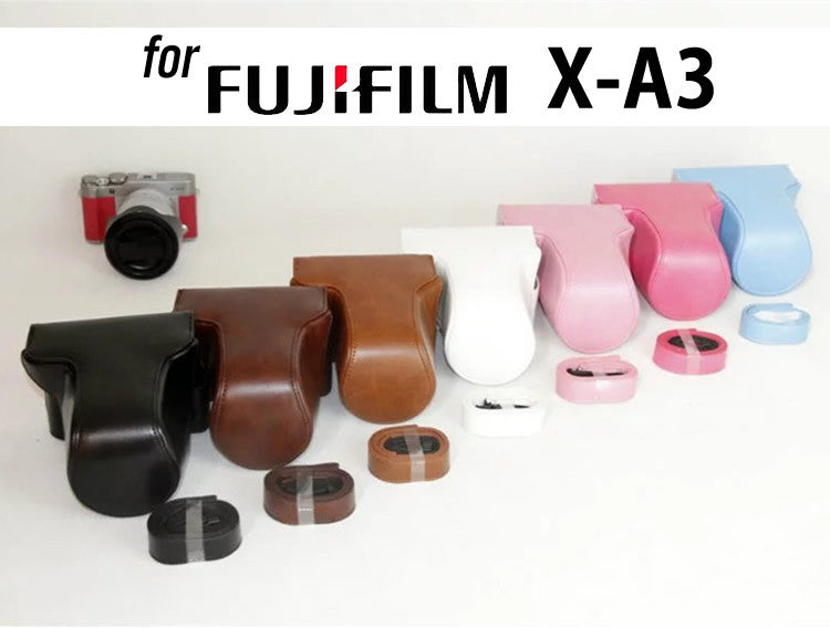 Leather Case Holster for Fujifilm X-A10 X-A5 X-A3 16-50mm Lens