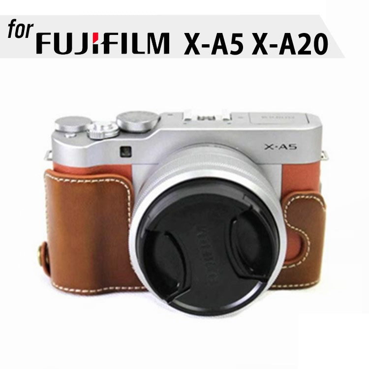 Leather Half Case for FujiFilm X-A5 X-A20