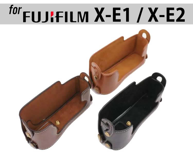Leather Half Case for Fujifilm X-E1 X-E2 (version 1)