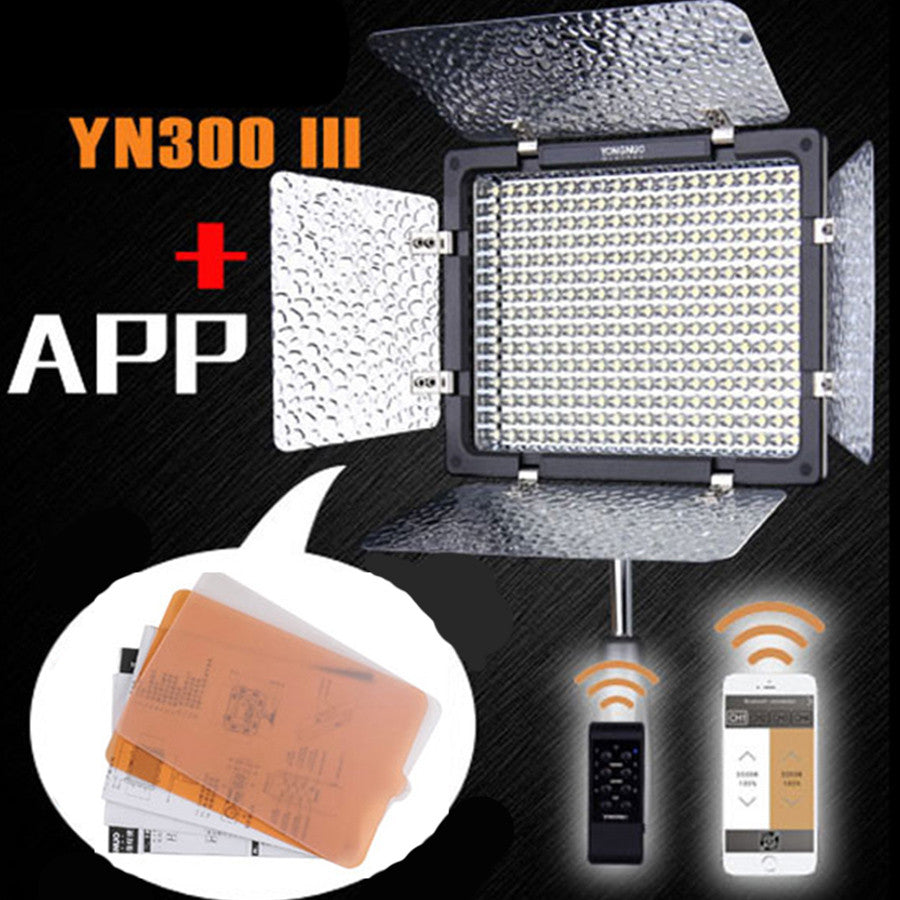 Yongnuo YN-300 III 3200K-5500K Pro LED Video Light for Sony Canon Nikon Camera Camcorder With AC APP Remote Control