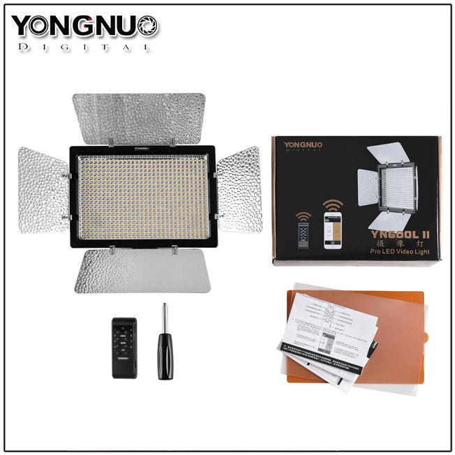 Yongnuo YN-600L II 600 LEDs Video Light Studio Photography Lamp Adjustable Color for Canon Nikon Sony Pentax