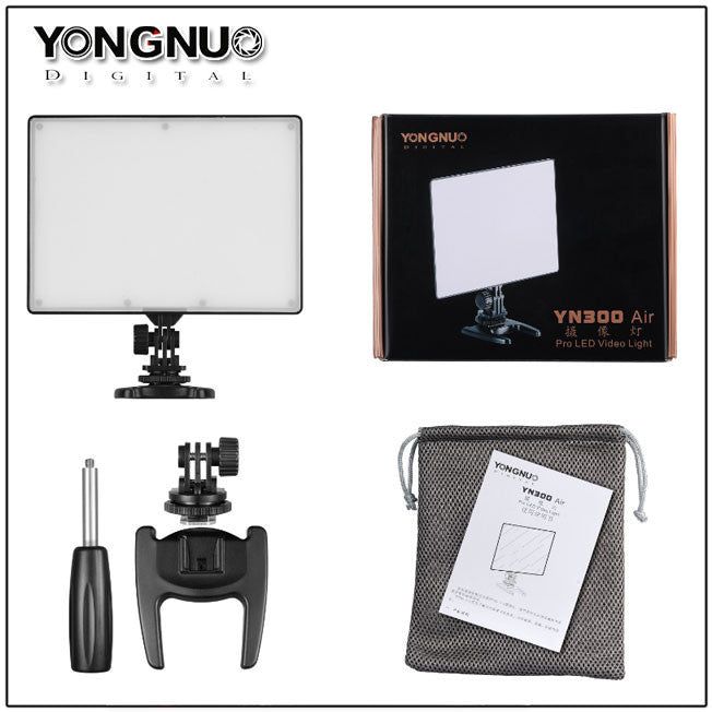 YONGNUO YN300 Air Ultra Thin On Camera Led Video Light Pad Panel for DSLR & Camcorder