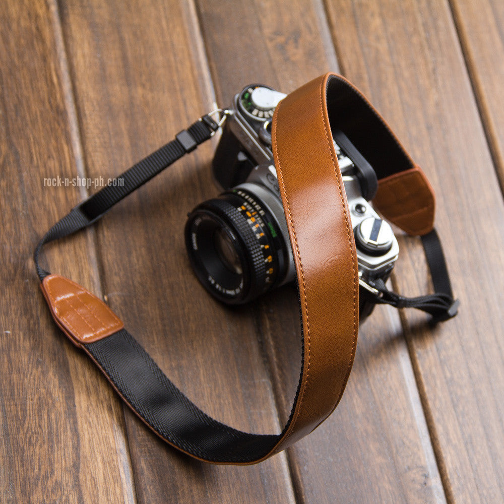 Leather Strap for Fujifilm Sony Leica Cameras (Synthetic Leather)