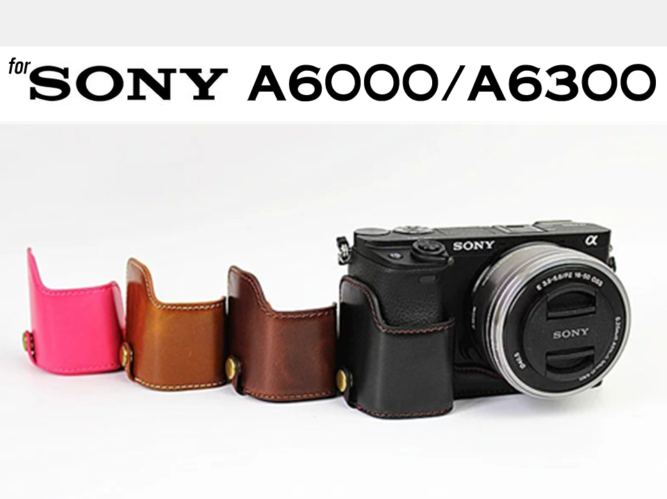 Leather Half Case for Sony A6000 A6300 (version 2)