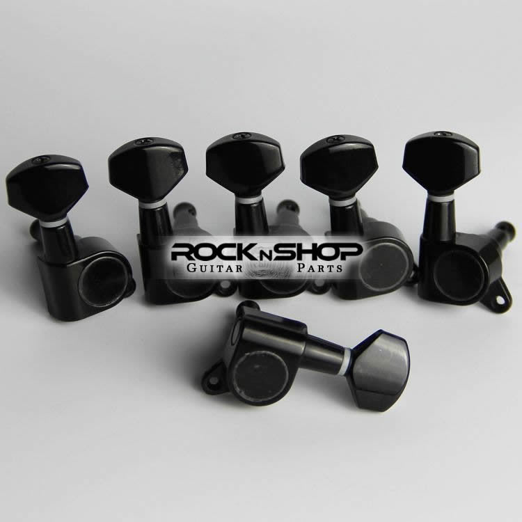 Jinho ST SQ Electric Guitar Tuning Pegs (black)